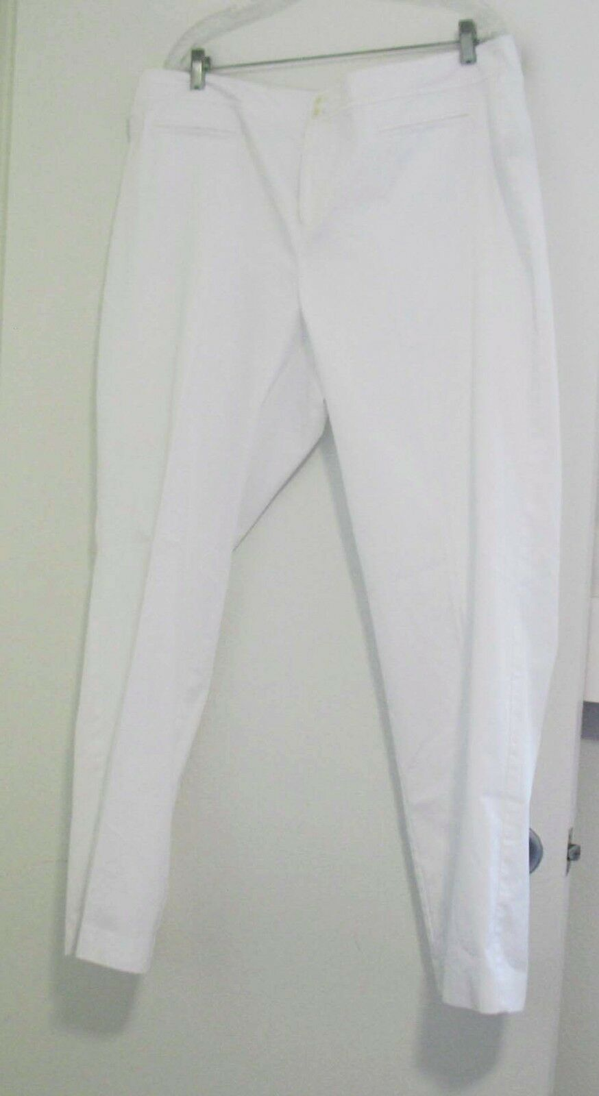 Lauren Ralph Lauren Womens Plus Size Straight Leg Twill Pants White Sz 18W - NWT