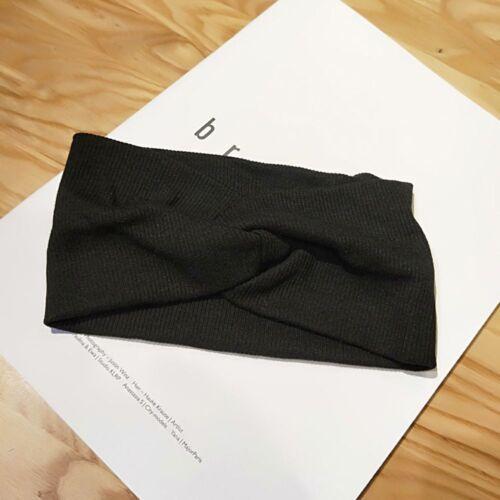 Stirnband Elastic Winter Warm Big Bow Breite Knoten Turban Headwear Haarschmuck