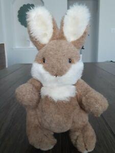 "10"" VTG 1983 Gund Bunny Tan Brown Plush Stuffed Animal Jointed"