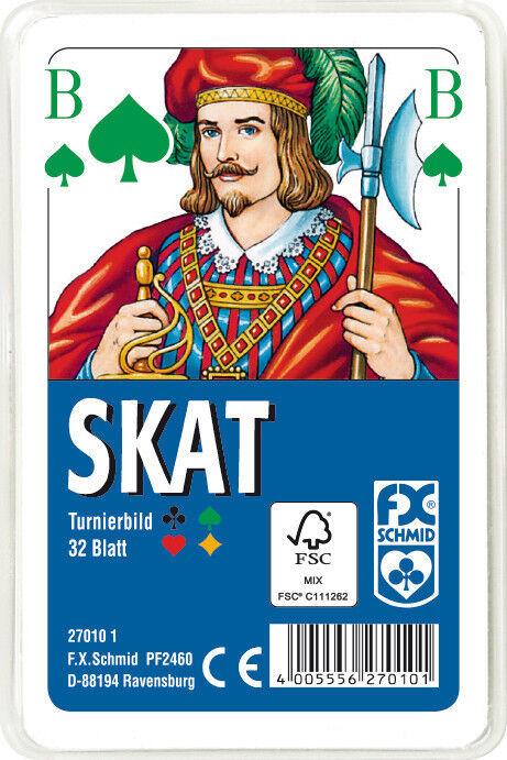 50 x 32 Blatt Ravensburger Spielkarten Skat Turnierkarte des DSkV Etui 27010