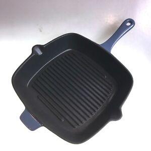 Grill-Pan-Cast-Iron-Matt-Blue-26cm-Square-Excellent-Quality-Massive-Clearance