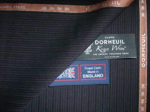 DORMEUIL 70/%SUPER 140's /& 30/%KIRGYZ WHITEⓇ WOOL SUITING FABRIC BY Dormeuil–3.4 m
