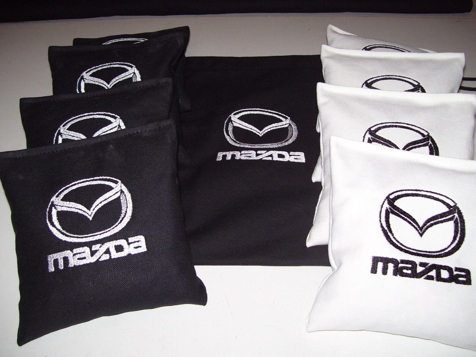 Mazda Embroidered Cornhole Corn Hole Set of 8 Bags W Storage Bag