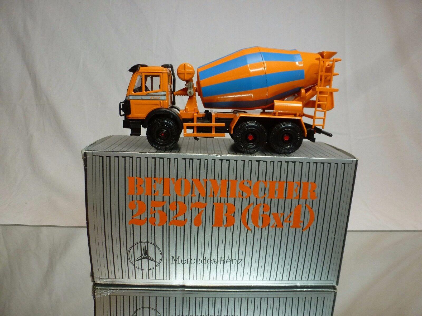 NZG MODELLE 384 MERCEDES BENZ 2527B CONCRETE MIXER - 1 43 - VERY GOOD  IN BOX