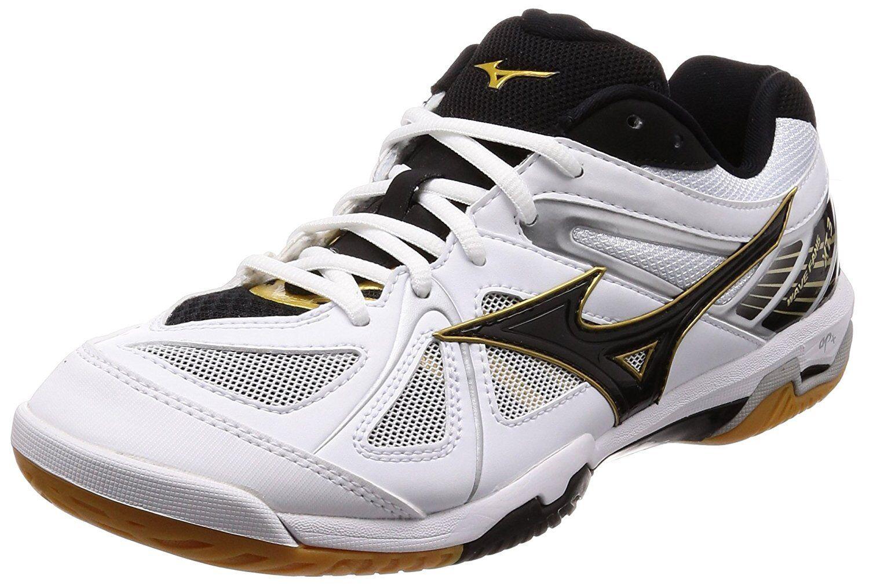 Mizuno Badminton Zapatos Onda Fang XT3 71GA1850 blancoo Negro Dorado US9 (27 Cm)