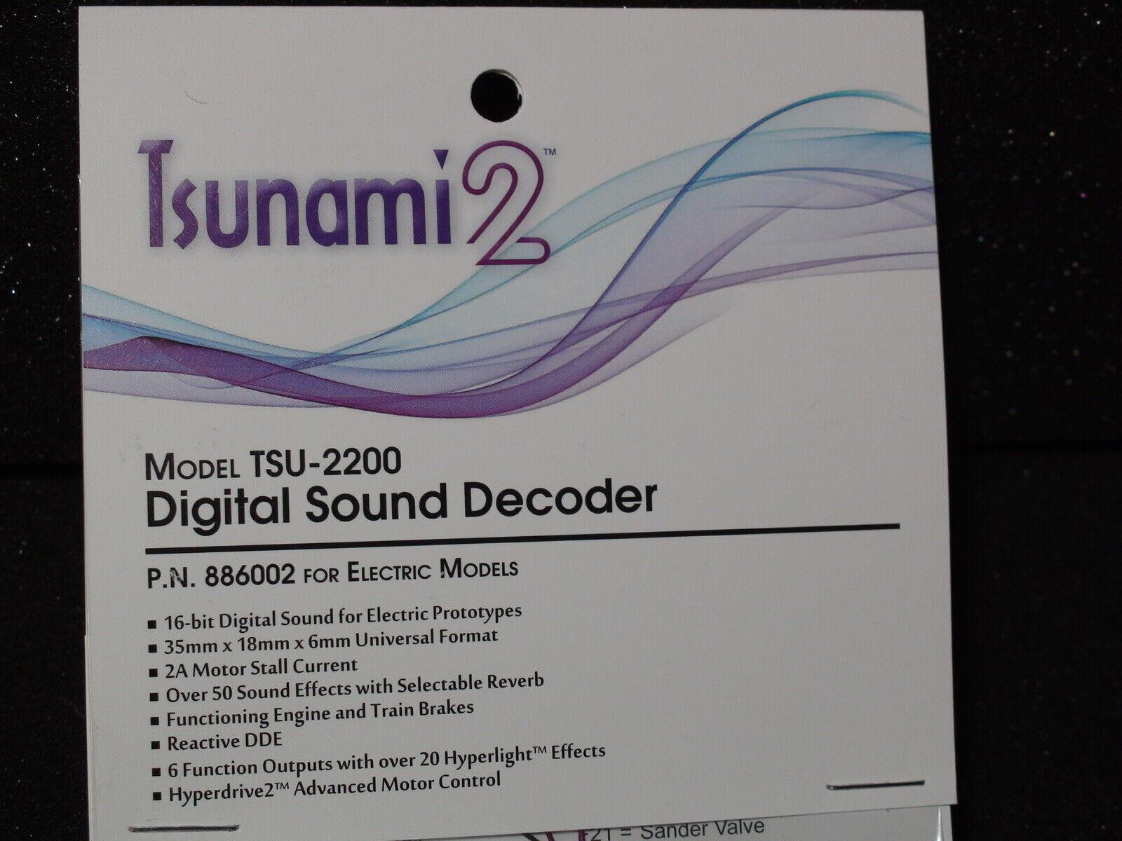 Tsunami TSU-2200 decodificador Digital sonido 886002 Para Modelos Eléctricos