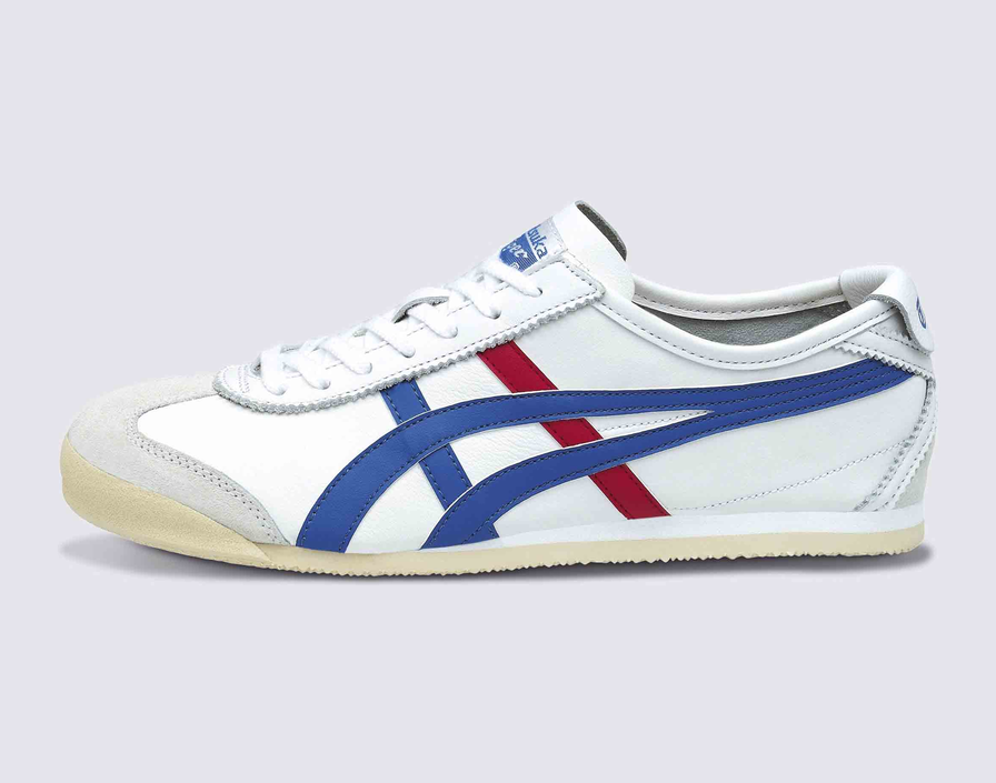 Onitsuka Tiger Mexico 66 Trainers Weiß Blau rot Asics Leather