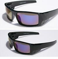 Men Black Polarized Sunglasses With Blue Mirror Lens Baseball Fishing Anti-glare