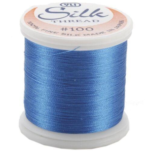 Kanagawa 207 - Electric Blue YLI 100/% and #100 Silk Thread
