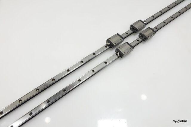 SR20W2UU+2598mm  2Rail 4Block with Bosch Rexroth 15+2200mm R16221 2Rail 6Blocks