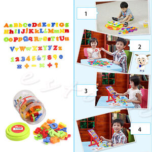 78Pcs Magnetic Letters & Numbers Alphabet Capital & Lower Case Learning Toy New