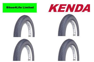 "4 X Kenda K124 12.5/"" X 2.25 Bike Scooter Pushchair Tyre Black  KT01A Tubes"