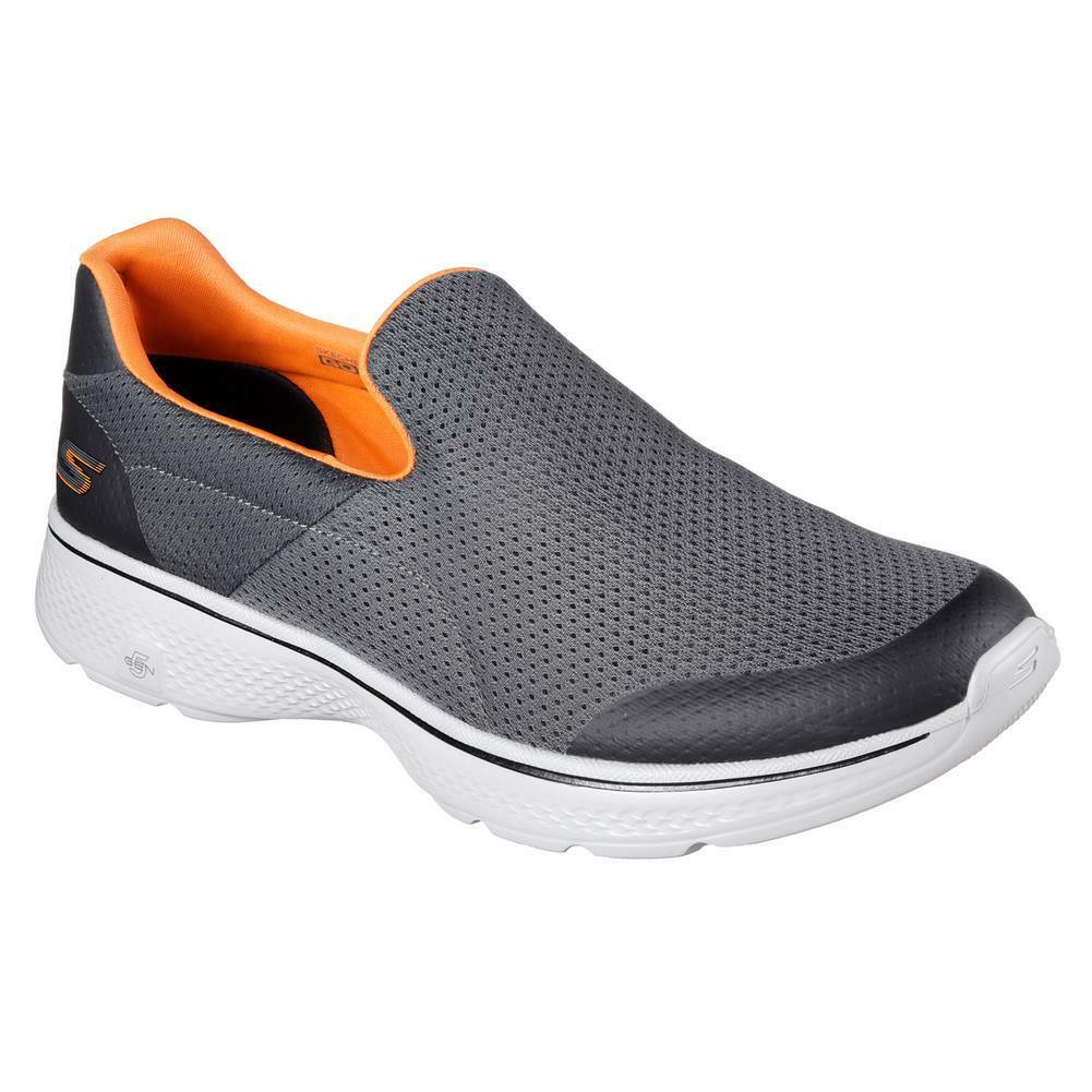 Skechers Shoes – Go Walk 4-Incredible grey/orange The latest discount shoes for men and women