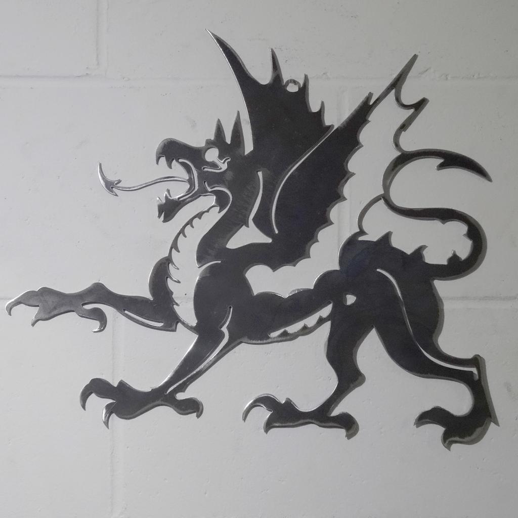Médiéval mythique Dragon acier Wall Art solide en acier Dragon doux métal main fini Cadeau a2d64d