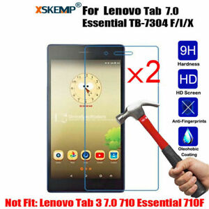 2Pcs Tempered Glass Screen Protector For Lenovo Tab 7 Essential TB-7304 F/I/ 7.0