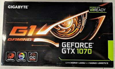 #EB6751-53 GIGABYTE GeForce GTX 1070 8GB DirectX 12 GV-N1070IXOC-8GD