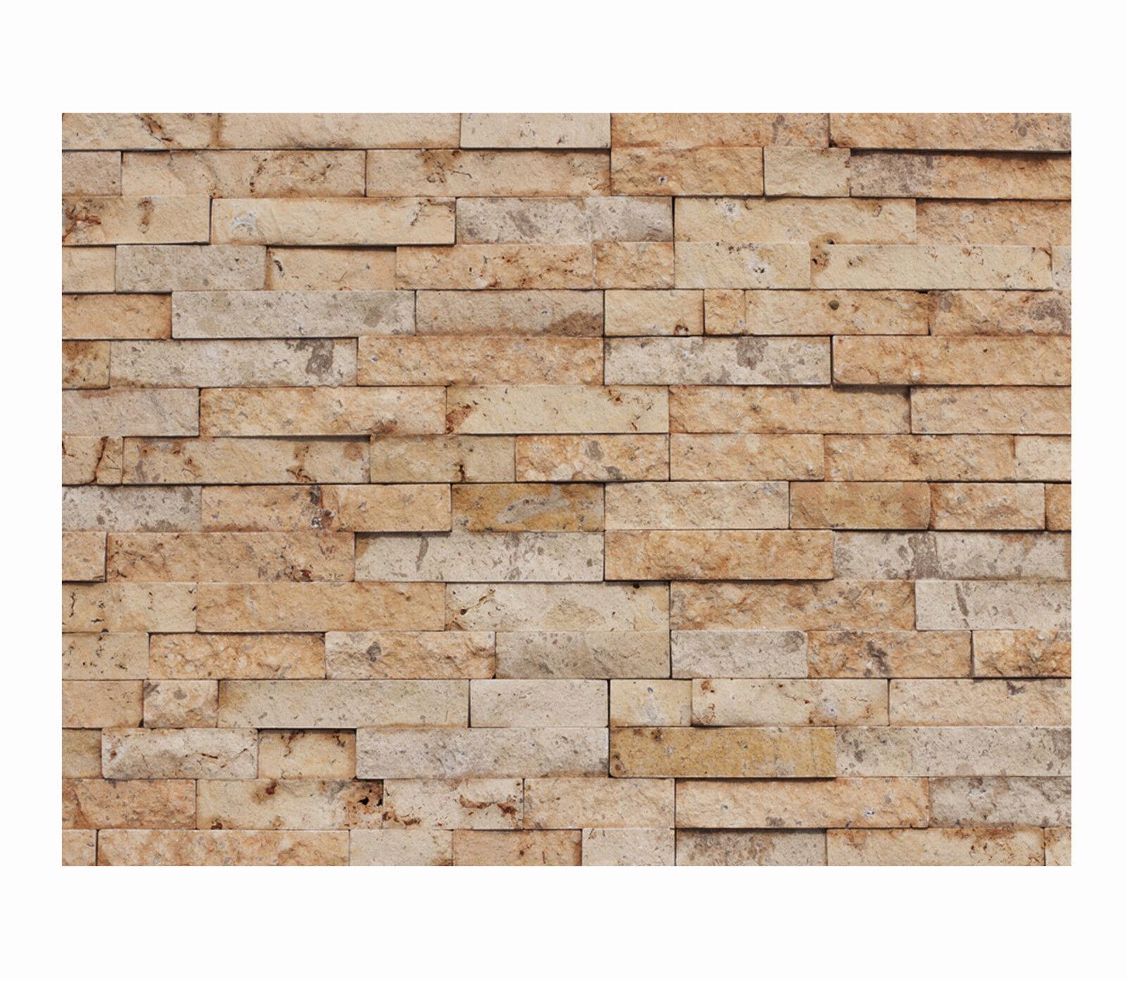 1 qm - W-014 - Naturstein-Wand - Fliesen Lager Stein-mosaik Herne - Wanddesign -