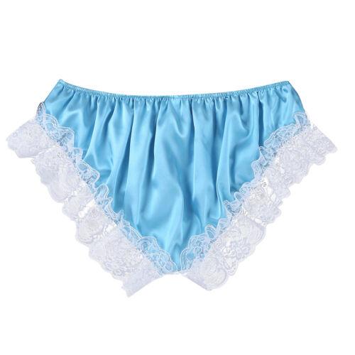 Men Satin Silky Lingerie Boxer Shorts Underwear Lace Briefs Panties Nightwear