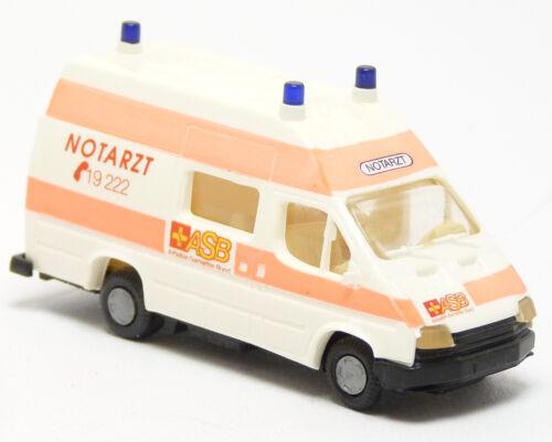1:87 h0 Busch praline 43725-Ford Transit RTW ktw ASB samaritano federal ambulancia