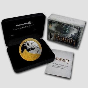 Neuseeland-2013-Silber-1-PP-Munzen-1-OZ-Hobbit-Desolation-of-Smaug