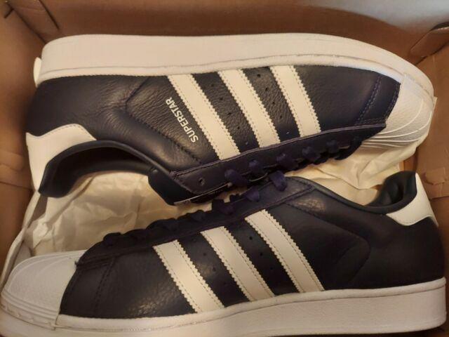 Men's ADIDAS Originals Superstar Casual Sneakers  BB2239 White Navy Silver Sz 11
