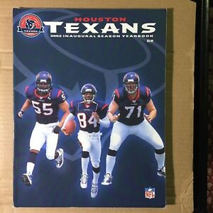 Image is loading 2002-Official-Houston-Texans -Inaugural-Season-Yearbook-VERY- 730c59670