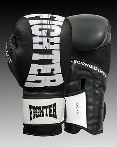 Leather-Boxing-Gloves-Muay-Thai-Punching-Bag-Sparring-Glove-Kick-Boxing-MMA