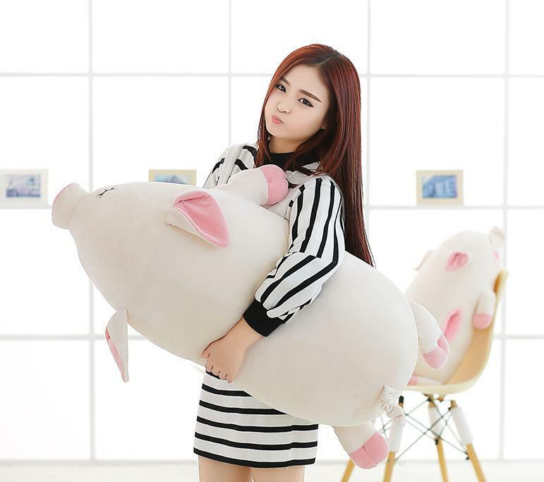 95cm Giant Pig Soft Pillow Big plush Stuffed Huge Animals toy Birthday kid gift