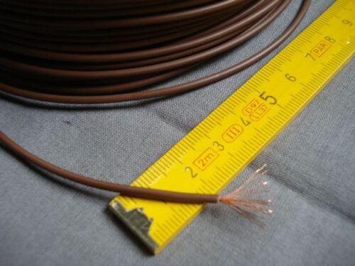 fil souple marron câble électrique 1 x 0,5 mm2  multibrins lot de 5 m