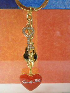 BEVERLY HILLS RED HEART , KEY SOUVENIR KEYCHAIN 4.0 INCHES VERY CUTE