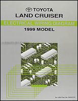 1999 Toyota Land Cruiser Wiring Diagram Manual Original Electrical Schematic