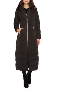 Sz Xs Cole Front Black Exposed Womens Coat Haan Quilted Zip 3794 Long RBzBHaqwx1