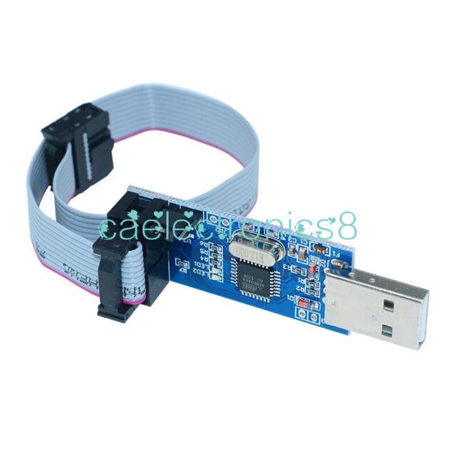 USBASP USBISP AVR Programmer Adapter 10 Pin Cable USB ATMEGA8 ATMEGA128 CA