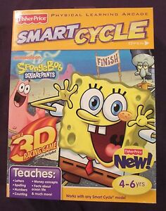NEW-Factory-Sealed-Sponge-Bob-Smart-Cycle-Game-Cartridge-w-1-One-3D-Activity
