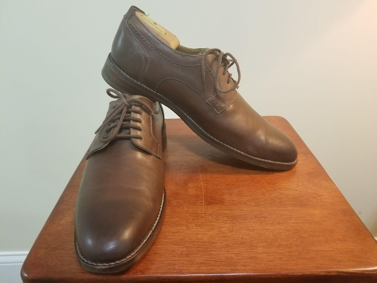 Johnston & Murphy Garner Plain Toe shoes - Mens Size 9.5 M, Brown MSRP