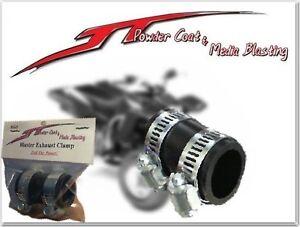 "PURPLE YAMAHA BLASTER HIGH TEMP RUBBER EXHAUST CLAMP YFS 200 1/""ID ATV"