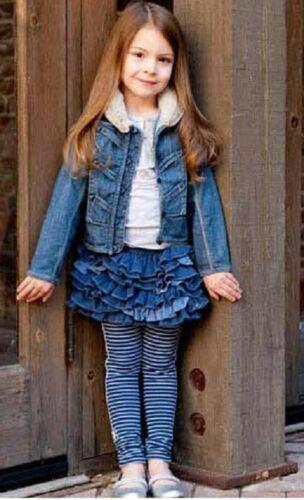 Luxury cute ELIANE /& LENA Paris Ritsuko blue girls Leggings size 4y 5y 6y 8y 10y