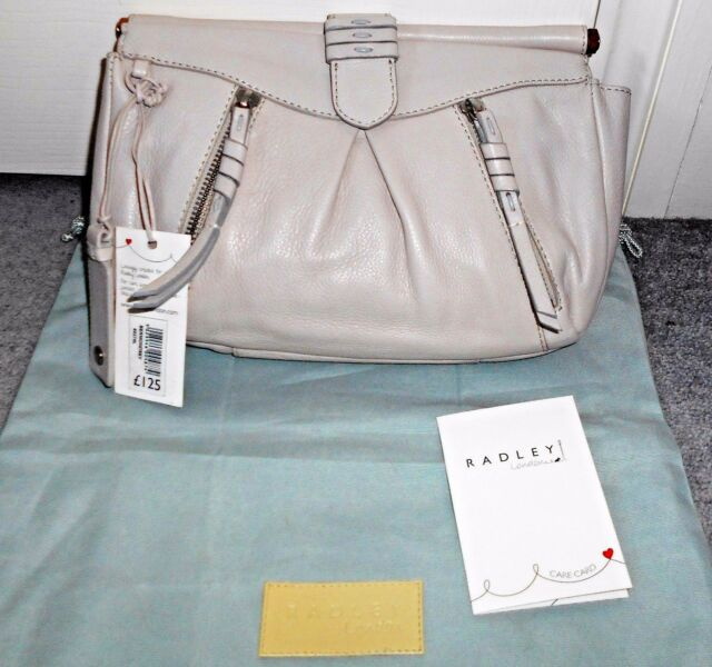 cbadeece3252 Radley Bermondsey Ivory Leather Clutch Bag With Tags for sale online ...