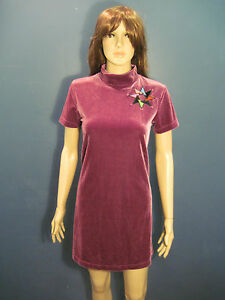 XL-violet-crushed-velvet-embroidered-zip-up-dress-by-COPPER-KEY