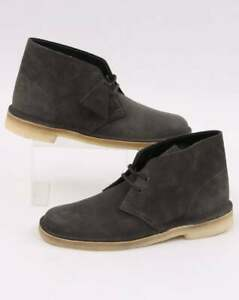 80a92cc3 Clarks Originals Desert Boots in Slate Grey suede - crepe sole   eBay
