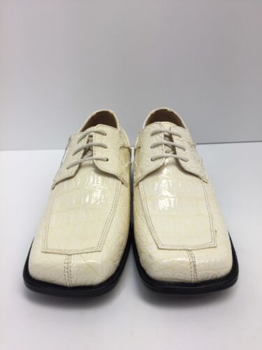 Square Toe Sizes 12.5-1.5 Bolano Boys Youth Ice Dress Shoes with Laces