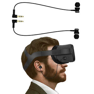 In-Ear-Earphones-Earbuds-Wired-mit-Cable-fuer-Oculus-Quest-VR-Headset-Kopfhoerer