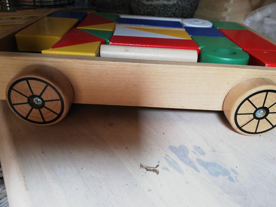 Vogn med træklodser, Ikea, aktivitetslegetøj