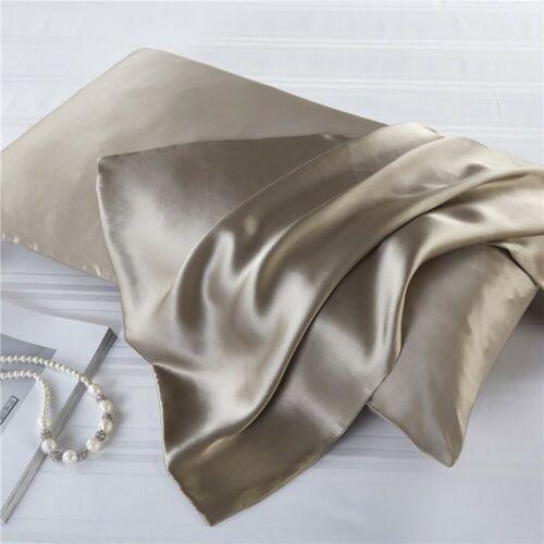 Luxus 100/% Maulbeerseide Kissenbezug Kissenhülle Seiden Kopfkissenbezug