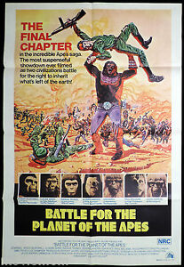 BATTLE-FOR-THE-PLANET-OF-THE-APES-Original-Australian-ONE-SHEET-Movie-Poster