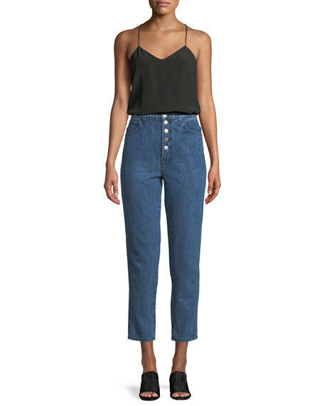 J Brand Heather high rise button fly bluee jeans size 27