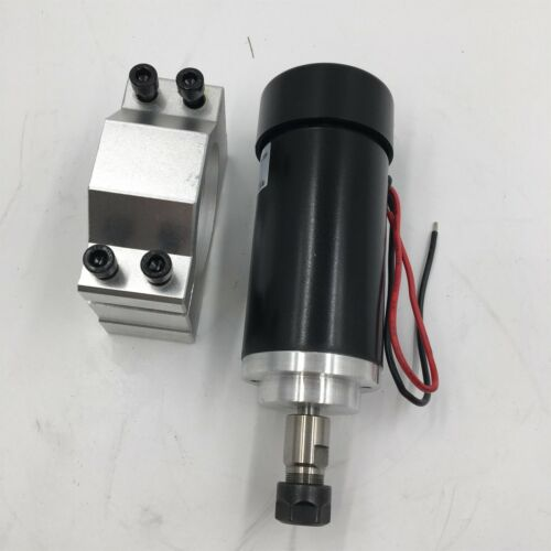 400W DC ER11 Spindle Motor 12000rpm Air-cooled /& Mount Bracket for CNC Router