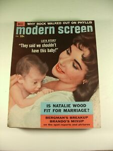 Lot-of-9-Modern-Screen-Magazines-1958-Back-Issues-Feat-Elvis-amp-Marilyn-Monroe