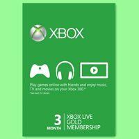 Xbox One 360 Live Gold Card Karte Code 3 Monate Month Neu Per Email