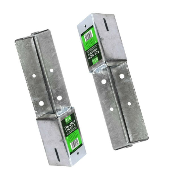 Fixman Galvanised and Powder-Coated Easy-Grip Fence Post Support Holder
